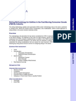 FMCG, Rating Methodology, Jan 2018