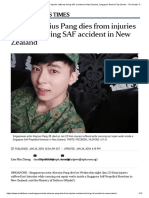 Actor Aloysius Pang dies from injuries suffered during SAF accident in NZ - The ST