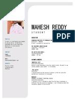 mahesh reddy resume