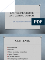 CASTING PROCEDURE AND CASTING DEFECTS- SEPT 2019 SEMINAR.pptx