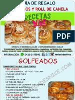 GUIA DE GOLFEADOS Y ROLL DE CANELA VARIEDADES NICE