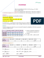 6- cours Statistique- 4 sc 2018