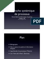 Approche systémique de processus - Partie 1