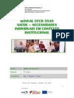 Manual 3548 SAÚDE - Necessidades Indiv. Contexto Instit.