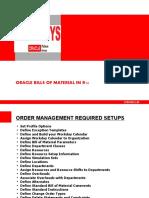 BILLS OF MATERIAL SETUPS IN ORACLE R12