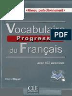Vocabulaire progressif du français, niveau perfectionnement