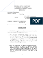 Complaint against Tito Cuerdo (Collection Of Sum of Money)