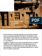 Mud as a building material