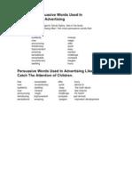Most Persuasive Words Used in Advertising[1]