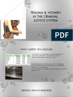 Trauma & Women in the Criminal Justice System