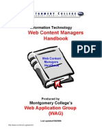 Web Content Managers Handbook