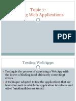 Topic 7 testing