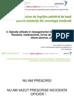 5. Opioide utilizate in managementul durerii