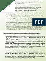 Cadrul normativ pentru organizarea și desfășurarea activităților în anul școlar 2018-2019