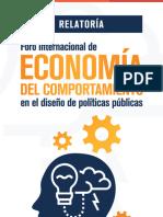 Relatoría del Foro Internacional de Economía del Comportamiento en el diseño de políticas públicas.