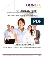 PLAN DE ARRANQUE DISTRIBUIDORES OMNILIFE