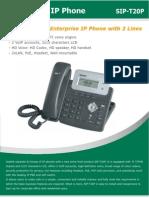 Yealink SIP-T20P Entey Level IP Phone Datasheet