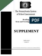 PSSA Item Sampler Reading Grade 6 2009