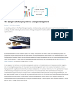 Change Management story