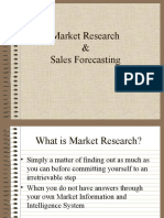 Marketing Research and Sales Forecasting