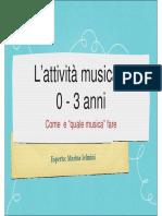 attività musicale 0-3 anni