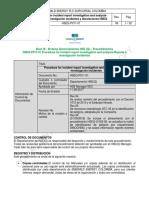 Anexo 3.5 Reporte e Investigación Incidentes