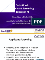 Week 8 - Selection I - Applicant Screening.pptx
