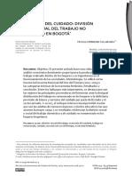 Economía del cuidado_ División social y sexual del trabajo no remunerado en Bogotá