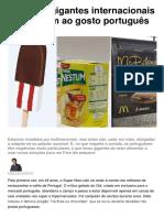 1- Como os gigantes internacionais se adaptam ao gosto português