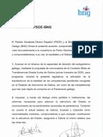 Acuerdo PSOE BNG