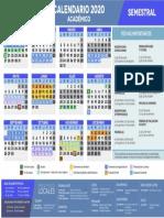 Calendario Academico Semestral 2020