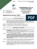 Olympiades de la francophonie 2020