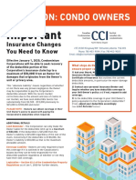 Condo Owners Insurance Notice