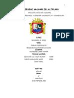 INFORME Nº 1 DE RETROEXCAVADORA RENDEMIENTO