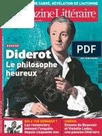 Le Nouveau Magazine Littéraire - Diderot - Le Philosophe Heureux