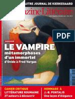 Le Nouveau Magazine Littéraire - Le Vampire