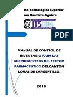 Manual de control de inventarios recomendado al sector farmacéutico - Corregido - Nina