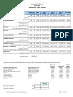 Monroe School District Administrators Salary Schedule 2007/08