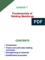 Lecture 1-Fundamentals of Welding Metallurgy