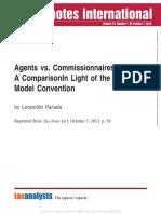 Agents vs Commissionaires