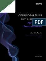 Análise Qualitativa como programa NVIVO 12