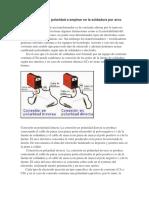 Tipo de corriente y polaridad a emplear en la soldadura por arco eléctrico