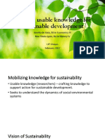Crafting Usable Knowledge for Sustainable Development.