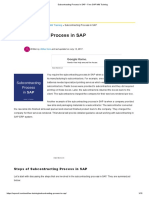 Subcontracting Process in SAP - Free SAP MM Training5