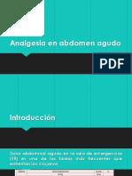 Analgesia en abdomen agudo