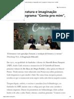 """Família, literatura e imaginação moral_ o programa """"Conta pra mim"""", do MEC"""