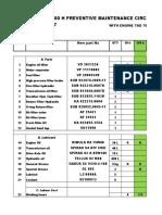 LIST PREVENTIVE MAINTENANCE DRG450-60S5M