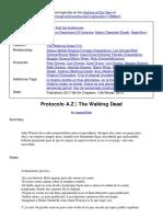 Protocolo AZ The Walking Fanfic