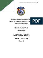 LESSON YEARLY PLAN (MODULAR) MATHS YEAR 2 DLP 2019