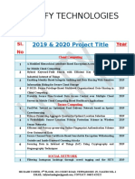 2019 and 2020 IEEE Projects List